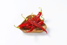 Dried Red Chili Peppers Stock Photography