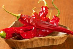 Dried Red Chili Peppers Royalty Free Stock Photo