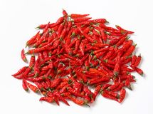 Dried red chilies Royalty Free Stock Photo