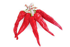 Dried Red Chilli Peppers Stock Photo