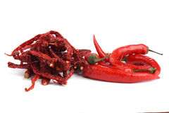 Dried Red Chilli and Red Chilli Royalty Free Stock Photography