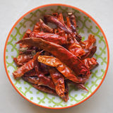 Dried Red Chillies Stock Photography