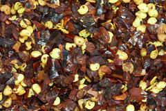 Dried Red Chilly Flakes Stock Photo