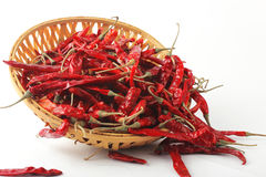 Dried red chilly PEPPER , food ingredient Royalty Free Stock Photography