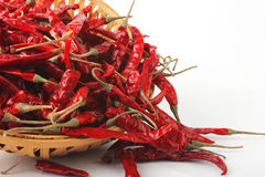 Dried red chilly PEPPER , food ingredient Stock Photography