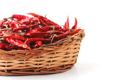 Dried red chilly PEPPER , food ingredient Royalty Free Stock Photo