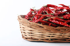 Dried red chilly PEPPER , food ingredient Stock Photo