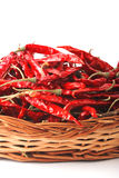 Dried red chilly PEPPER , food ingredient Royalty Free Stock Images