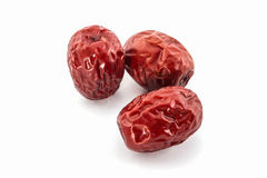 Dried Red chinese jujube. Royalty Free Stock Photo