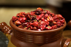 Dried Red Chinese pepper Stock Images