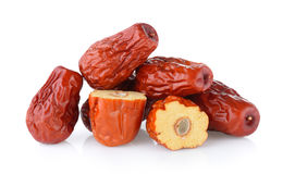 Dried red date or Chinese jujube Royalty Free Stock Photos