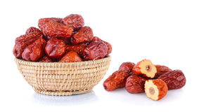 Dried red date or Chinese jujube Stock Photo