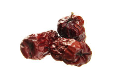 Dried red date. Delicious dried red date isolated on white background Stock Image