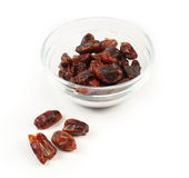 Dried red date isolated Stock Images