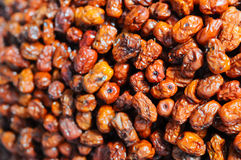 Dried red date stacked in the market place Royalty Free Stock Photography