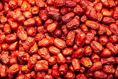 Dried red dates. Full of Dried red dates Stock Photo
