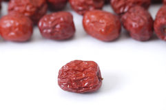 Dried red dates (hong zao) Royalty Free Stock Photos