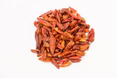 Dried red hot chili peppers Royalty Free Stock Photography