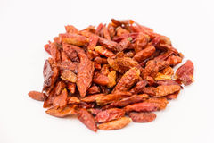 Dried red hot chili peppers Stock Photos