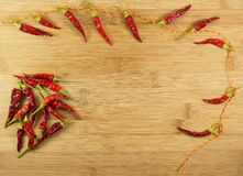 Dried red hot chili peppers Royalty Free Stock Photo