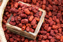 Dried red jujube for sell royalty free stock photo