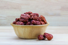 Dried red jujube Royalty Free Stock Photo
