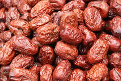 Dried red jujubes Royalty Free Stock Images