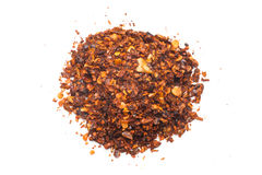 Dried red pepper flakes Stock Photo