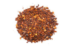 Dried red pepper flakes Royalty Free Stock Image