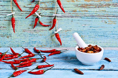 Dried red pepper Royalty Free Stock Image