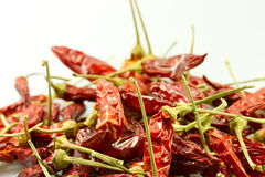 Dried red peppers Royalty Free Stock Photos