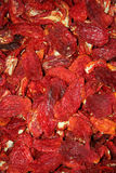 Dried red peppers background Stock Photography