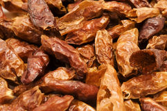 Dried red peppers Royalty Free Stock Images