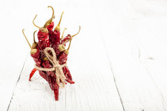 Dried red peppers Royalty Free Stock Photo