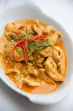 Dried red pork coconut curry (Panaeng) Stock Photography