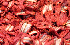 Free Dried Red Tomatoes For Sale In The Market Of Italy Stock Photography - 47310562