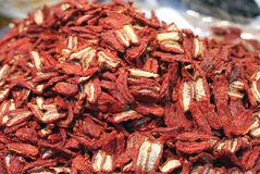 Free Dried Red Tomatoes For Sale In The Market Of Southern Italy Stock Photography - 47309612