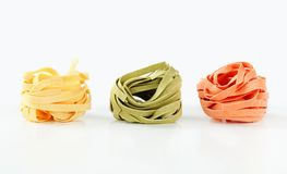 Dried ribbon pasta Royalty Free Stock Photo