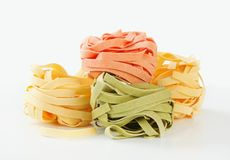 Dried ribbon pasta Royalty Free Stock Photos