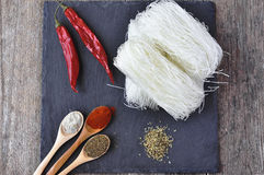 Dried Rice Noodles , asian food, Stock Photos