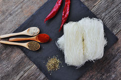 Dried Rice Noodles , asian food, Royalty Free Stock Photo
