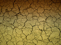 Dried River Bed. A Dried river bed with cracks created as mud dried Stock Photography