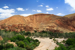 Dried river in Morocco Royalty Free Stock Photos