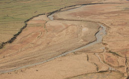 Dried river under the sunlight of summer Stock Photography
