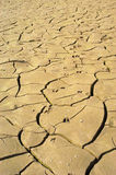 Dried Riverbed. Cracked, brown riverbed caused by drought royalty free stock photography