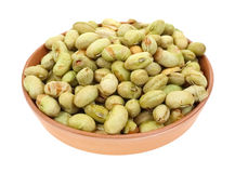 Soybeans Dried and Roasted Clay Dish Stock Image