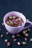 Dried rose bud tea Royalty Free Stock Image