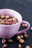 Dried rose bud tea Stock Photography