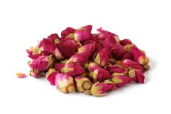 Dried Rose Buds. Dried red or pink rose buds stock photography