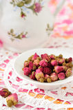 Dried  rose flower heads Royalty Free Stock Images